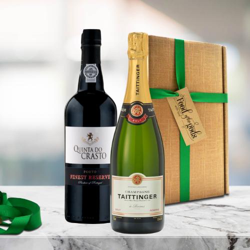 Champagne & Port Wine Gift