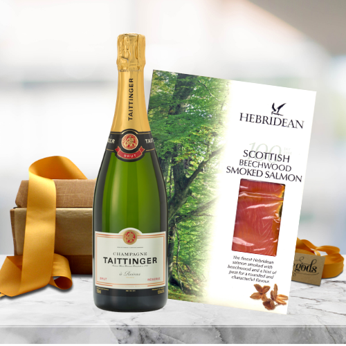 champagne and smoked salmon gift