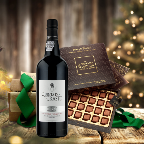 christmas port and truffles gift boxs