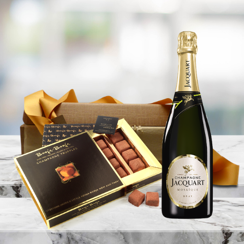 champagne and truffles gift