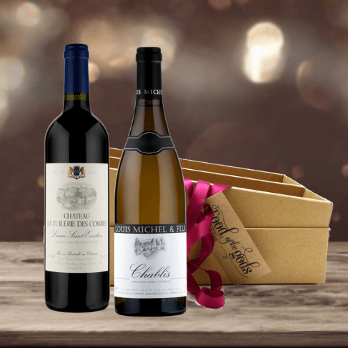 french red and white wine gift