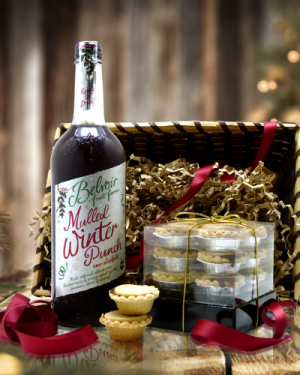 Festive Punch and Pie Gift Basket