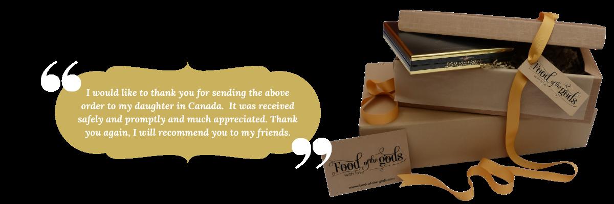 send gift hampers overseas international delivery