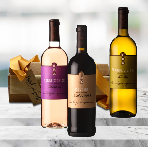 italian organic wine gift set