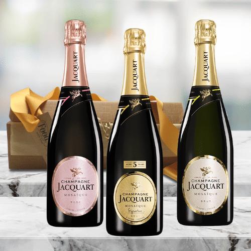champagne trio gift set