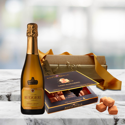 mini prosecco and truffles gift