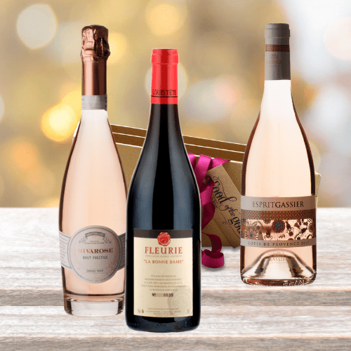 Red and Rose Wine Gift for Her