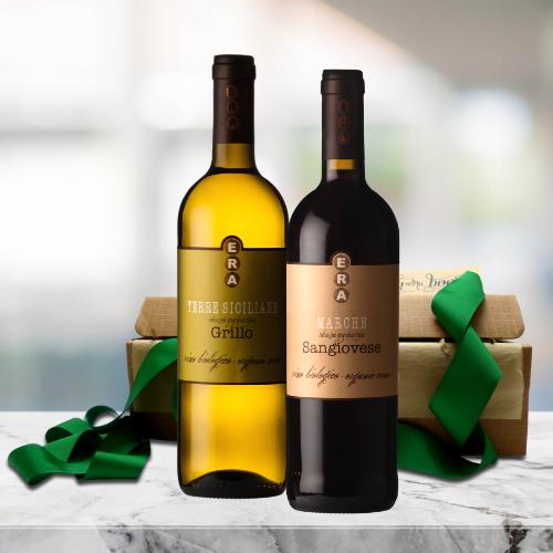 organic italian wine duo gift