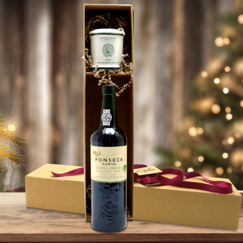 organic port and stilton gift