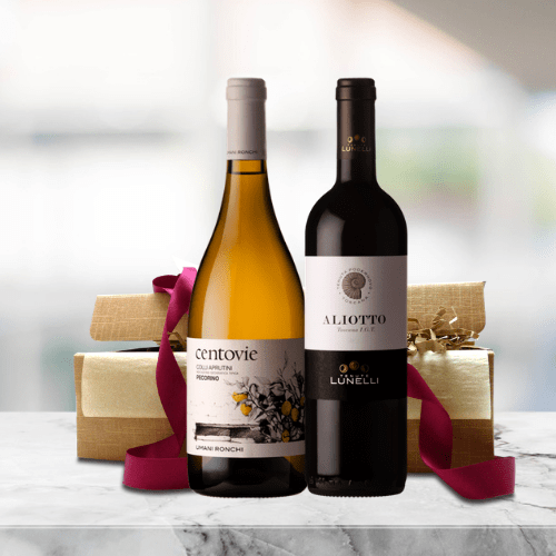 organic red and white wine gift