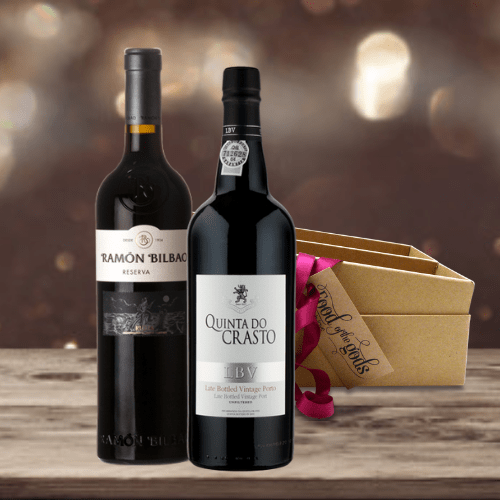 Port and Rioja Wine Gift