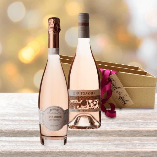 Rose Wine Gift Set