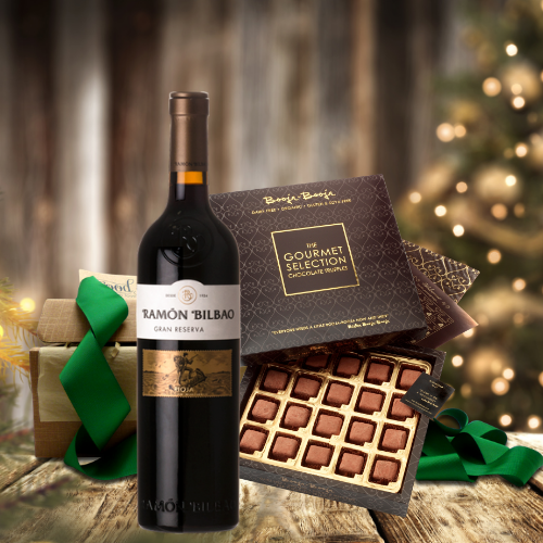 rioja wine and truffles gift