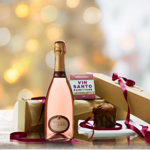 Rose Prosecco and Panettone Gift Box