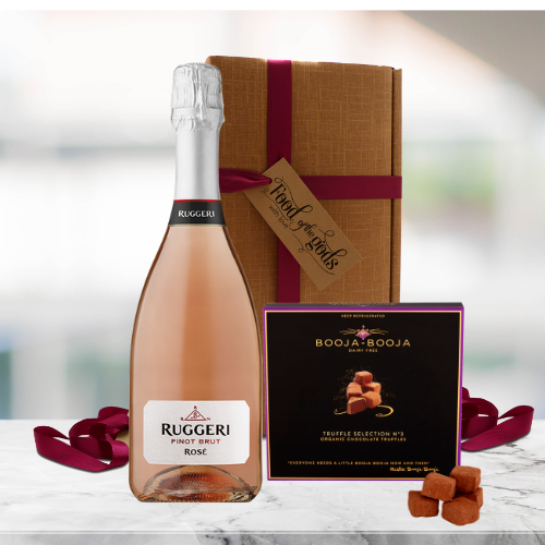rose prosecco and truffles gift