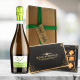 vegan organic prosecco and chocolate gift