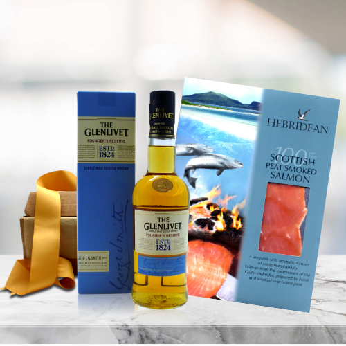 whisky and smoked salmon hamper